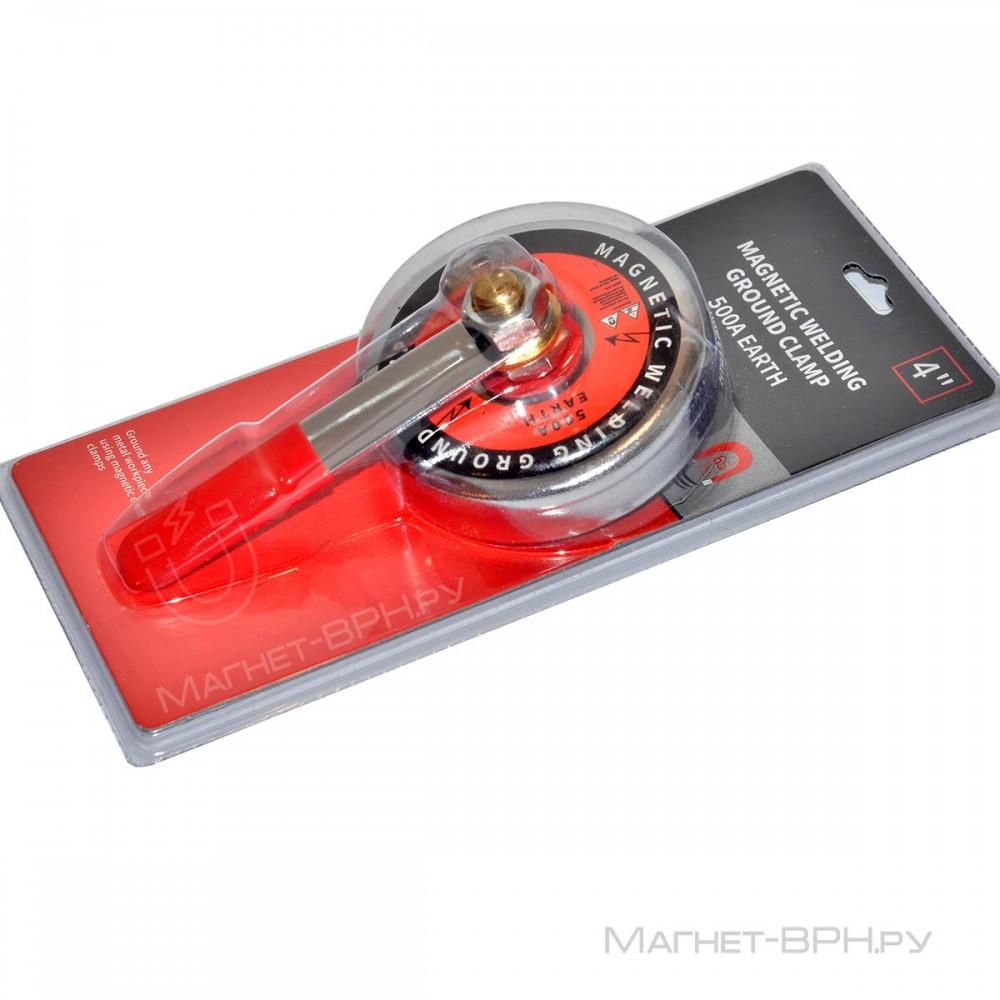 Магнитная клемма заземления 500 А тип А с ручкой