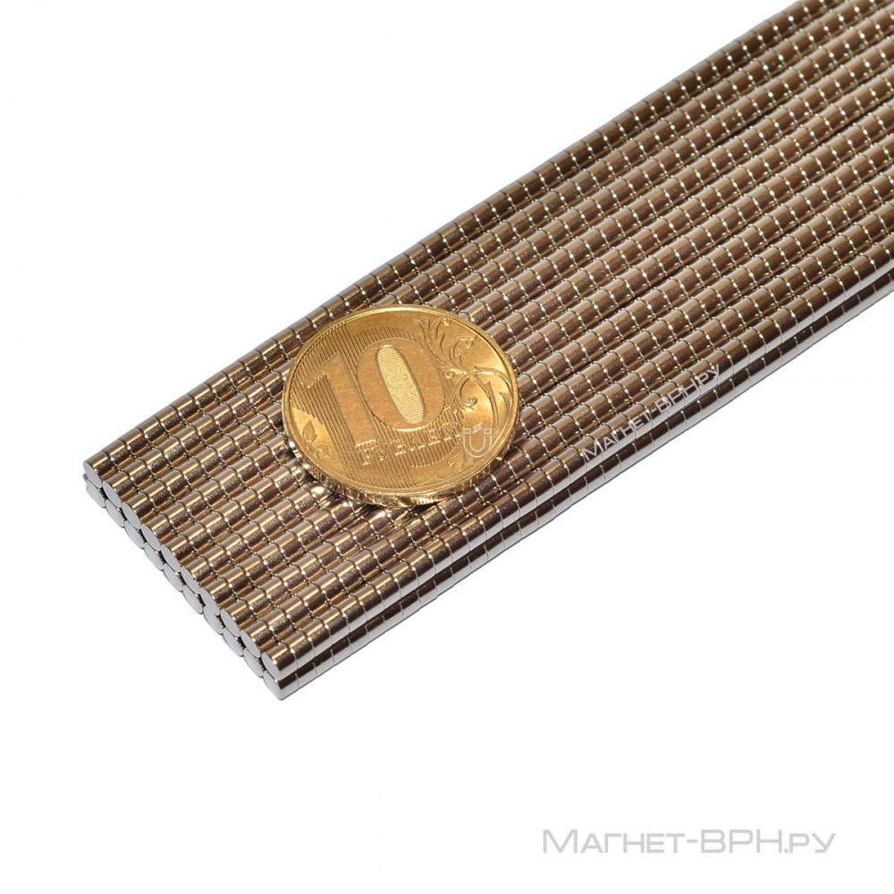 Неодимовый магнит 3х2 мм