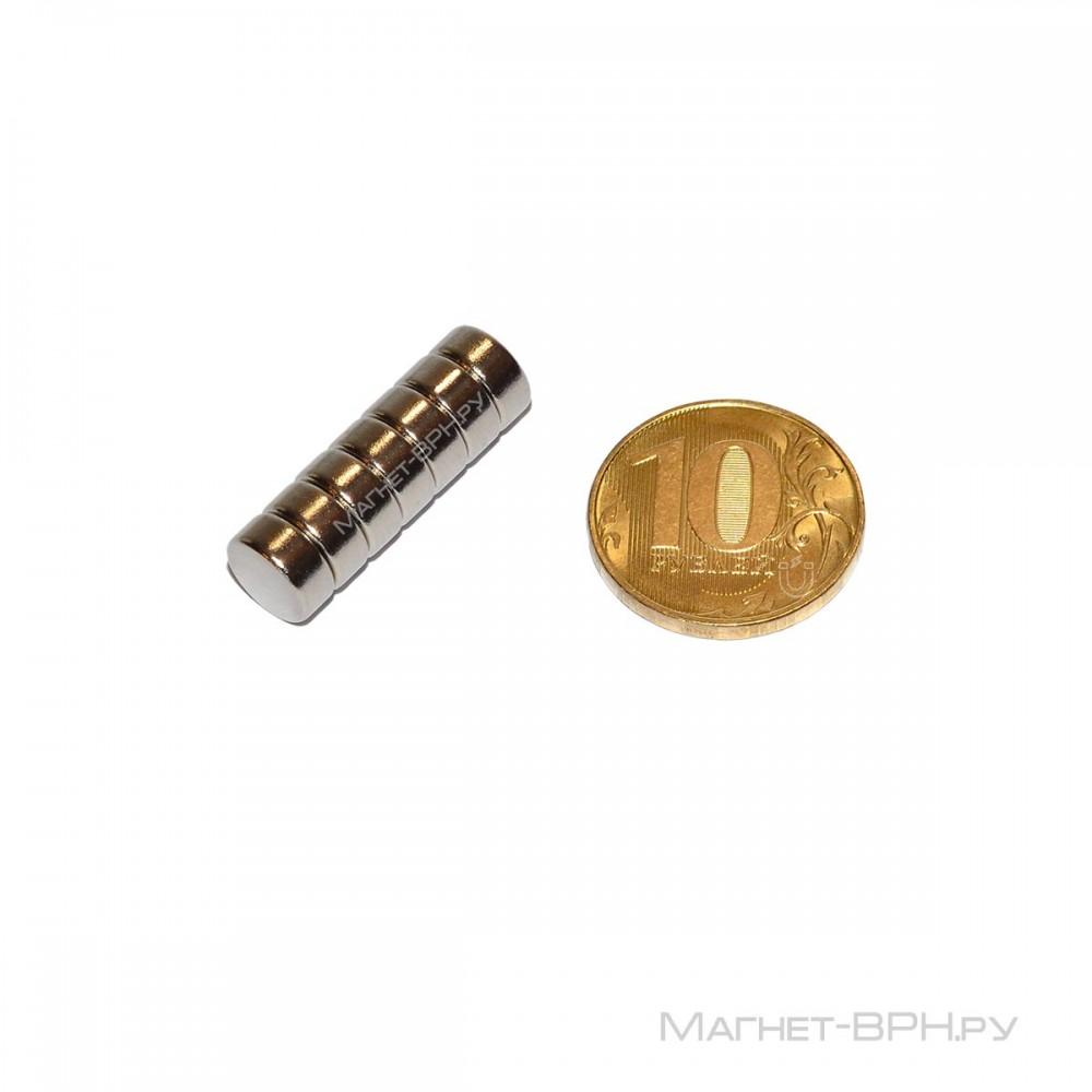Неодимовый магнит 8х4 мм