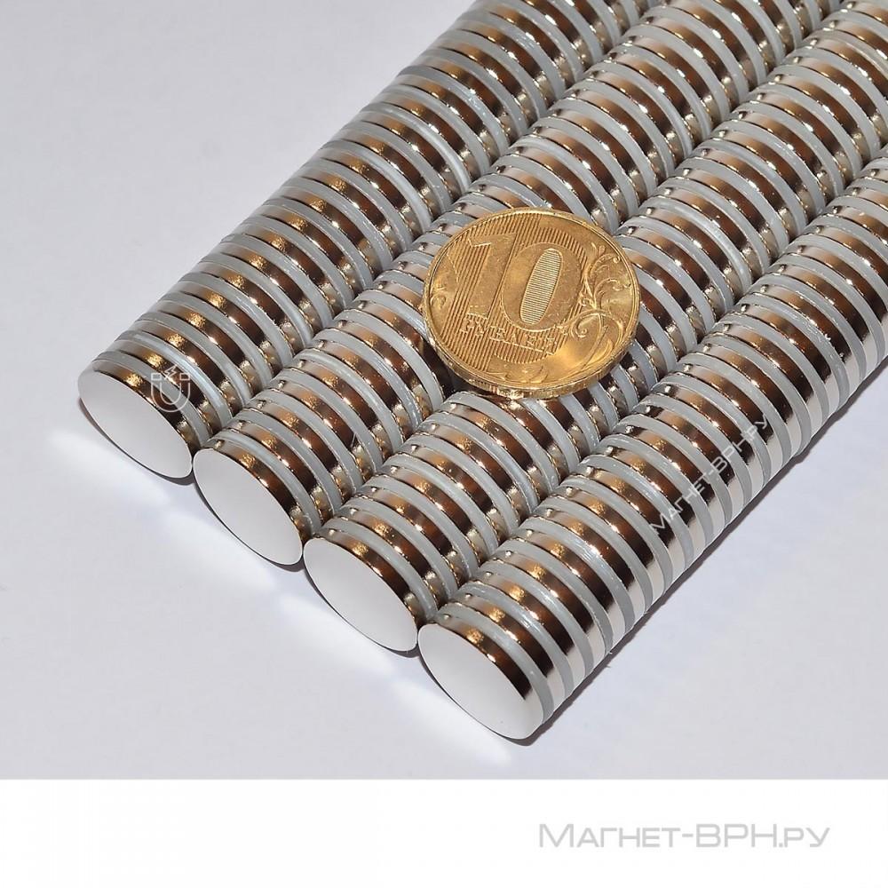 Неодимовый магнит 15х2 мм