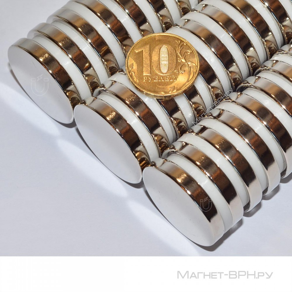 Неодимовый магнит 30х5 мм