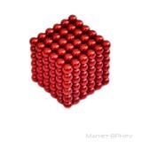 Неокуб красного цвета 5 мм, 216 шт