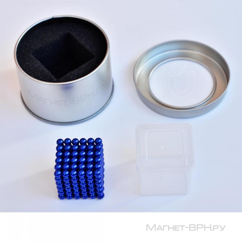 Неокуб синего цвета 5 мм, 216 шт