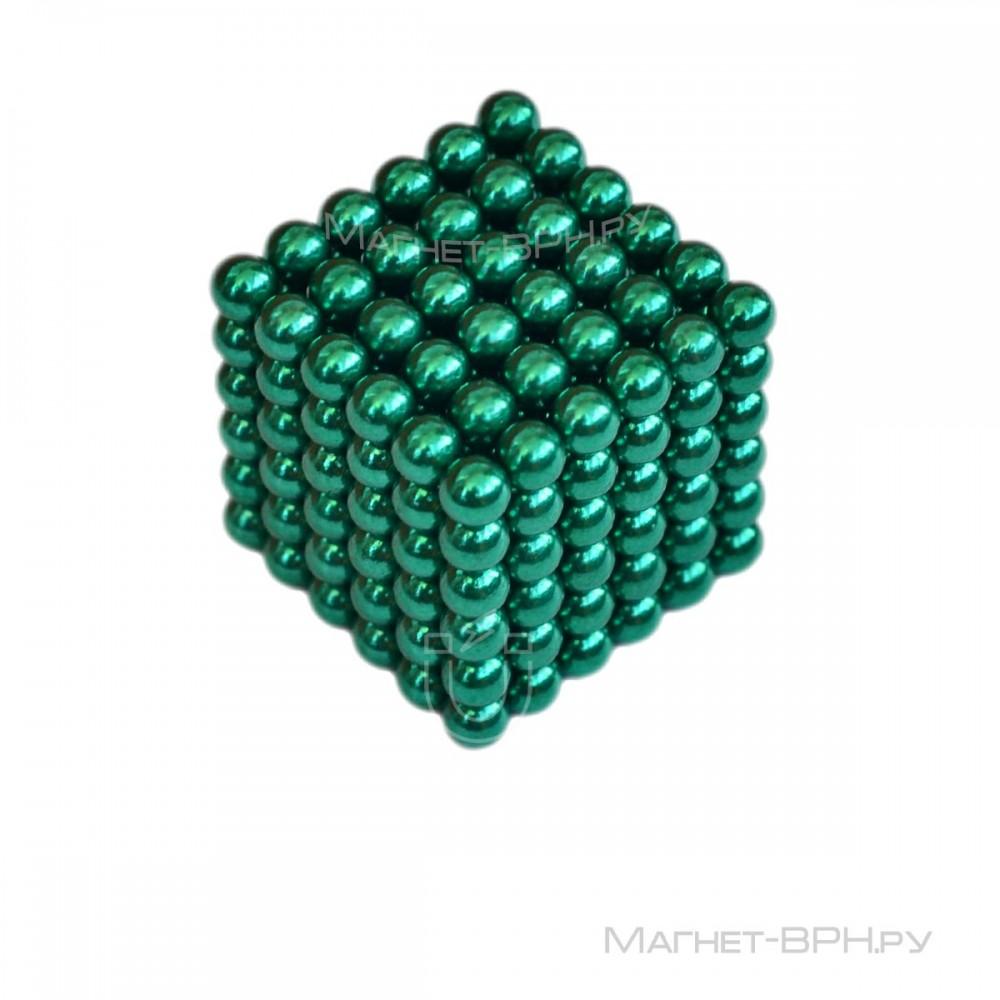 Неокуб зеленого цвета 5 мм, 216 шт