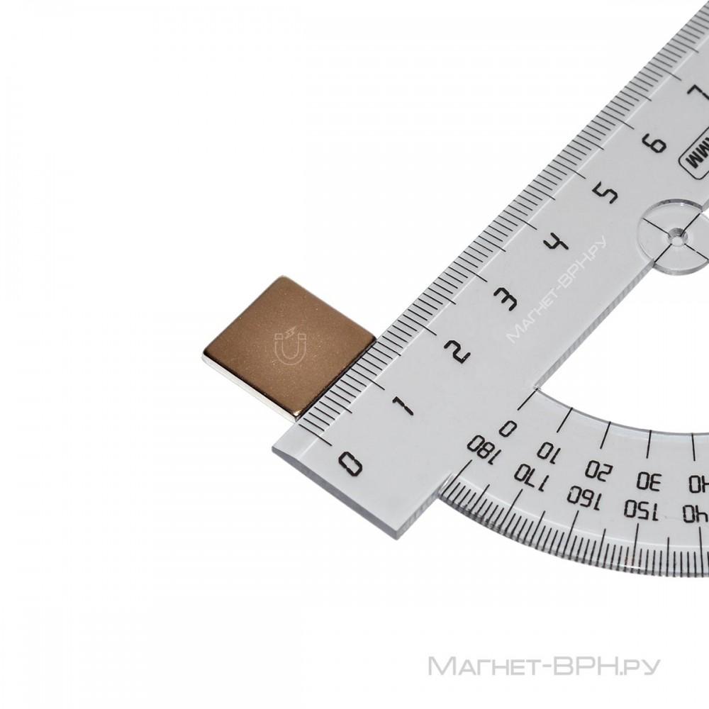 Неодимовый магнит призма 15х15х2 мм