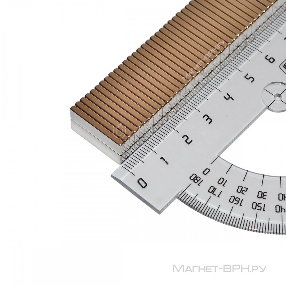 Неодимовый магнит призма 20х5х2 мм