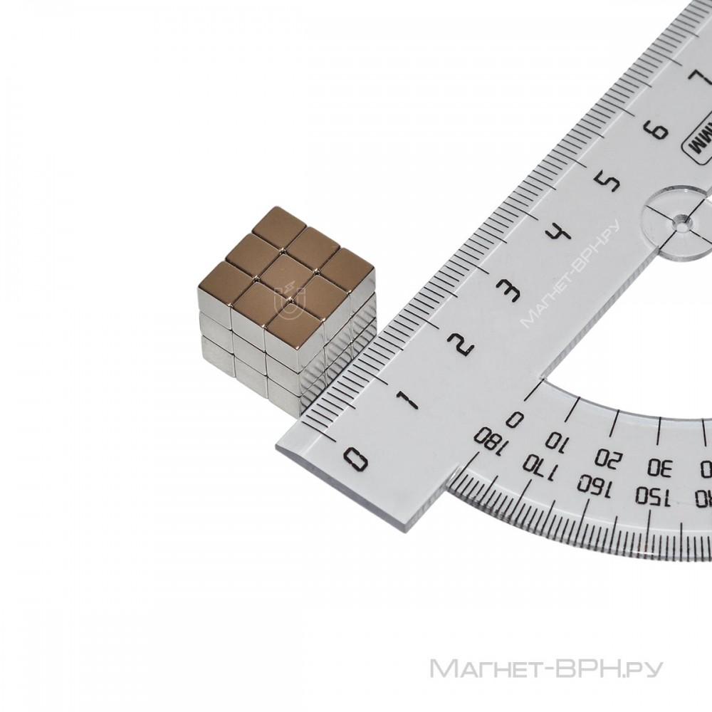 Неодимовый магнит призма 5х5х5 мм (куб)
