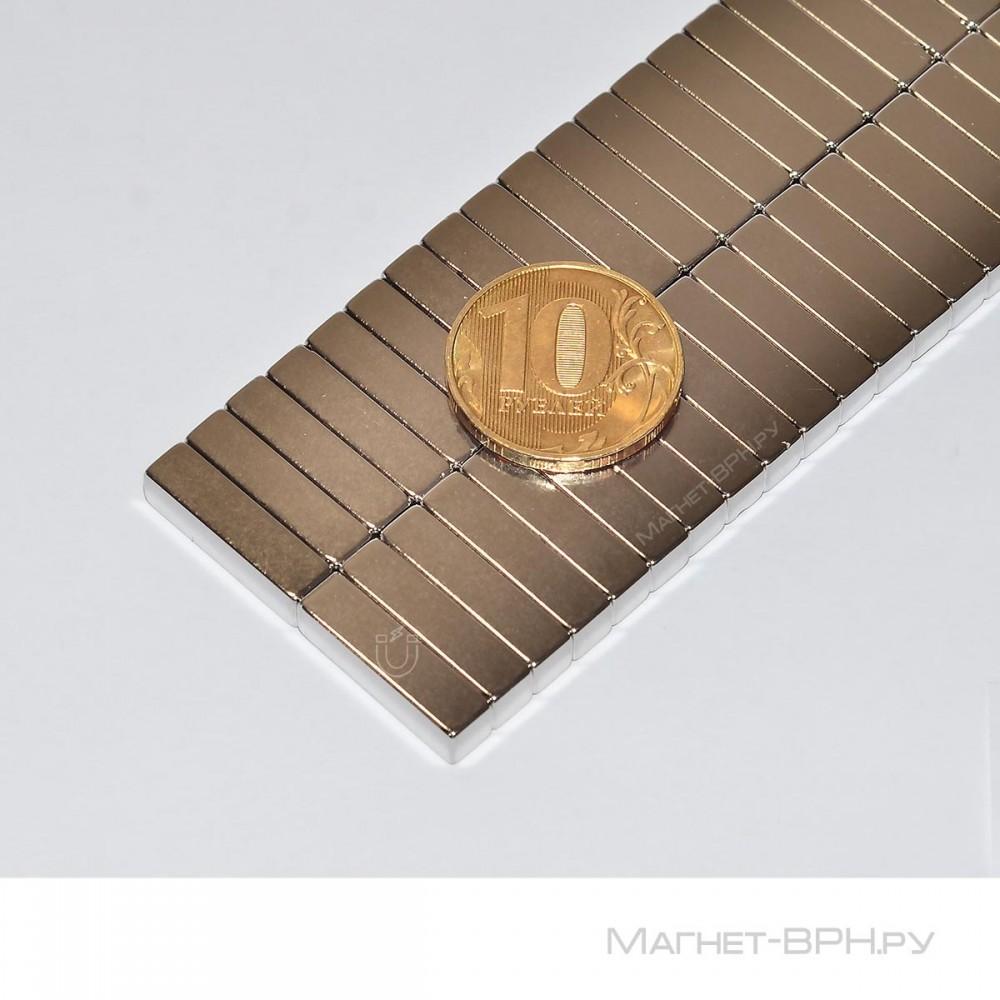 Неодимовый магнит призма 20х5х5 мм