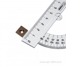 Неодимовый магнит прямоугольник 12х12х3 мм с зенковкой 3,5/7 мм